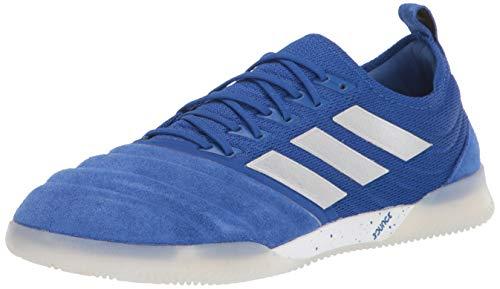 adidas Men's Copa 20.1 Indoor Soccer Shoe, Royal Blue/Silver/Black, 13