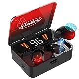 Auriculares Inalámbricos Bluetooth 5.0 Cascos In-Ear con Micrófono 2000mAh Caja de Carga Cancelación de Ruido 100H de Juego Control Táctil a Prueba de Agua Deportivos para Smartphones PC GMY (Red)