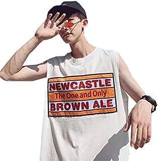 JINPINTシャツ タンクトップ メンズ 夏服 大きいサイズ ノースリーブ カットソー ゆったり カジュアル ファション ヒップホップ ストリート 無地 6色 原宿系 男性 青年 通学