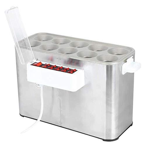 SISHUINIANHUA Egg Roller-Maschine Elektro-Haushalt-Ei Wurstmaschine 10 Löcher Automatische Egg Roll Frühstück Maschine