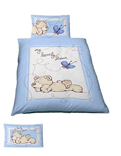 Träumschön NICI Baby Bettwäsche 100x135 cm - 40x60 cm | 2 teiliges Bettwäsche-Set aus 100% Baumwolle| Besonders atmungsaktiv | Renforce, besonders geeignet für warme Tage