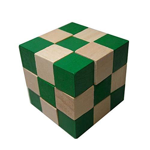 letaowl Zauberwürfel 27 Abschnitte Cube Classic Games Neuheiten Holzschlange Lineal Snake Twist Puzzle Challenge Iq Brain Toys