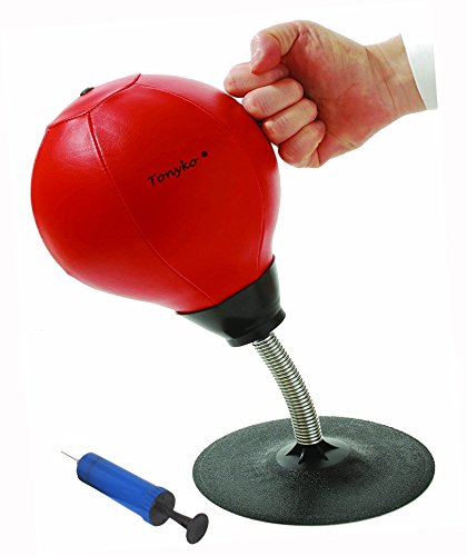 Tonyko® Easy-Installation Desktop-Speed-Punchingball mit Pumpe