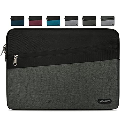 NEWHEY Funda Portatil 14 Pulgadas Impermeable Moda Funda Ordenador Blandas Laptop Protectora Prueba Golpes Compatible con Macbook Air / Pro 14 Pulgadas, HP, DELL, Lenovo Gris Oscuro