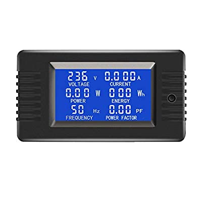 AC Current Voltage Power Energy Frequency Power Factor Communication Module Meter 100A Ammeter Voltmeter Multimeter with RS485 USB interface and Split Core Current