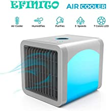 Efinito 3 in 1 Arctic Air Portable Mini Cooler Conditioner Humidifier with air Purifier for home/office/living room/bedroom