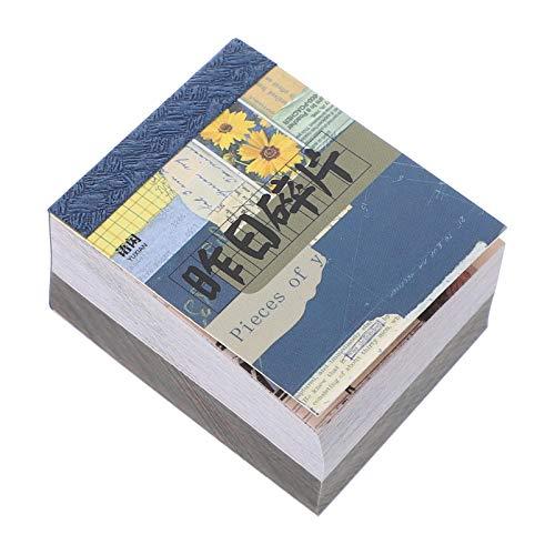 HEALLILY 400 Blatt/Buch Vintage Papier Aufkleber Set Retro Journaling Spezielle Papier für Scrapbooking Planer Album Kunst Handwerk Tagebuch Journal