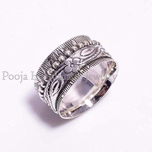 Bohemian Ring Thumb Ring Sterling Silver Ring Meditation Ring Spinner Ring Promise Ring Women Ring Gift For Her Handmade Ring