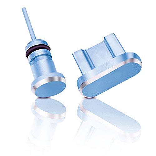 innoGadgets Staubschutz Stöpsel Smartphone | Staubstecker, Schutz kompatibel mit Android Micro-USB Anschluss - Samsung Galaxy u.v.m. | GRATIS Silikon-Clip | Blau