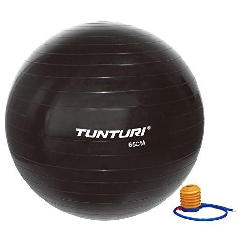Tunturi-Fitness 14Tusfu169 Balón Suizo, Unisex Adulto, Negro, 65 cm