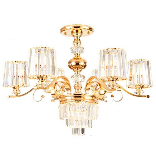 Hmvlw candelabro Salón Comedor de Cristal de Lujo luz lámpara del Dormitorio de la decoración lámpara E14 (Size : D75cm*H50cm)