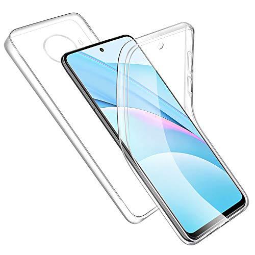 RosyHeart-EU Funda Compatible con Xiaomi Mi 10T Lite 5G, Transparente Carcasa TPU Silicona+PC Dura Doble Cara 360° Cuerpo Completo Protectora Case, Ultra-Delgado Anti-Arañazos Suave Case