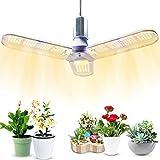 Led Full Spectrum crece las luces 30W / 40W, Luz Planta plegable LED, Full Spectrum 3 Hoja / 4 de la hoja de la lámpara del crecimiento vegetal, Fill Planta de interior Luz 3 leaves- red and blue