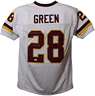 Darrell Green Autographed/Signed Washington Redskins XL White Jersey HOF JSA