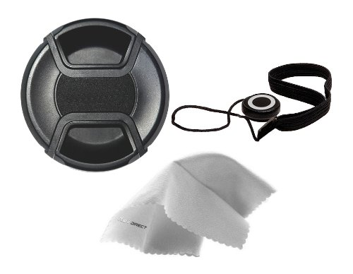 Nikon COOLPIX B700 Lens Cap Center Pinch (62mm) + Filter Ring Adapter + Lens Cap Holder + Nw Direct Microfiber Cleaning Cloth.