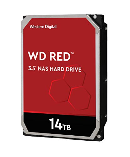 WD Red 14TB 3.5 Zoll NAS Interne Festplatte - 5400 RPM Class, SATA 6 Gb/s, CMR, 512MB Cache - WD140EFFX