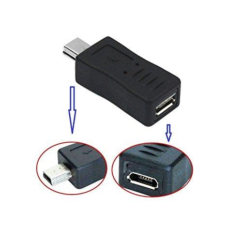 REY Adaptador Mini USB Macho a Micro USB Hembra, Conversor Adaptador USB
