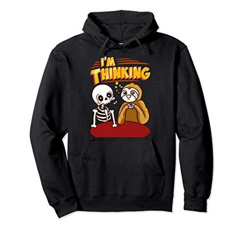 Waiting Skeleton Thinking Meme Dead Pullover Hoodie