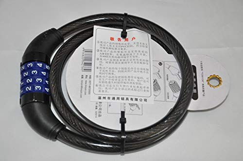 JLDSFPP 50 Stücke 4 Digitale Passwort Fahrradschloss Kombinationskabel Fahrradschloss Draht Fahrrad Radfahren Sicherheit Codeschloss