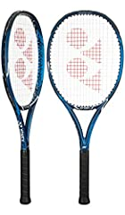 The Yonex EZONE ACE deep blue tennis racquet is for beginners to intermediate players looking for power and comfort