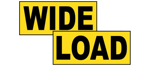 Wide Load Truck Label Decal Set, 36x6 inch Vinyl for Transportation by ComplianceSigns