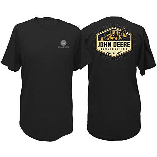 John Deere Men's Construction Short Sleeve T-Shirt-Black-Large