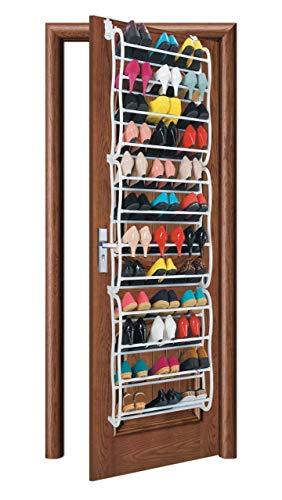 WEIZI Bastidores de Almacenamiento de Zapatos apilables y Extensibles Puerta Colgante para Pasillo Entrada Dormitorio (Puerta Exterior: 12 neumáticos)
