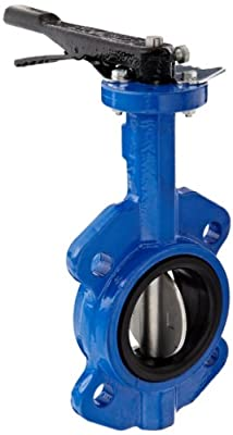 "Dixon BFVW300 Ductile Iron Wafer Style Butterfly Valve with Stainless Steel Disc and Buna-N liner, 3"" Size, 200 psi Pressure by Dixon Valve & Coupling"