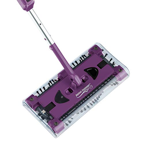 CLEANmaxx 07146 Swivel Sweeper G2 mit Ellenbogengelenk  Bodenkehrer   Akkubesen   Lila