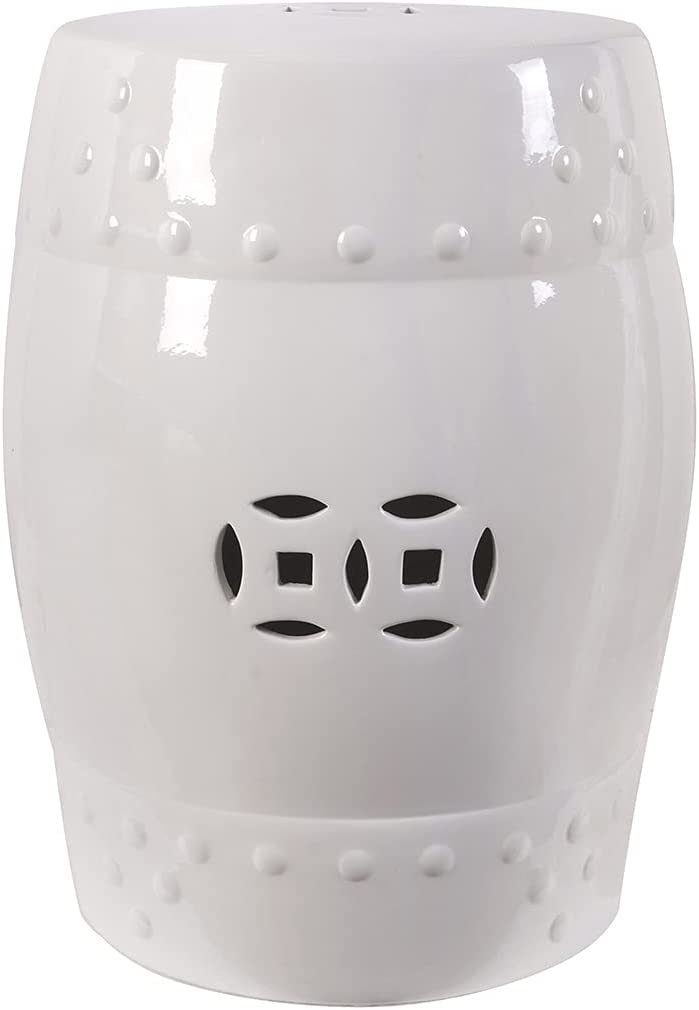 AB Home Great interest Zella Garden Vintage White Classic National products Stool