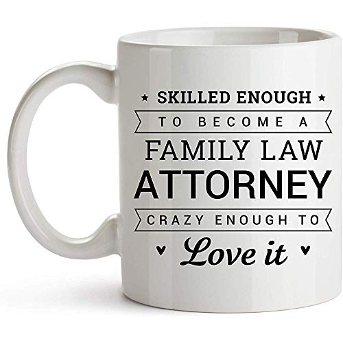 YF-SURINA Becher für Familienrechtsanwalt Genug, um ein Familienrechtsanwalt zu werden Einzigartige Kaffeetasse Perfekte Neuheit Geschenkidee Familienrechtsanwalt Geschenk Anwalt Rechtsanwalt Student