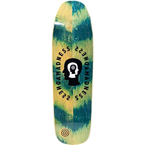 Madness Skateboarding Deck: Split Personality Green Impact Light 9.0
