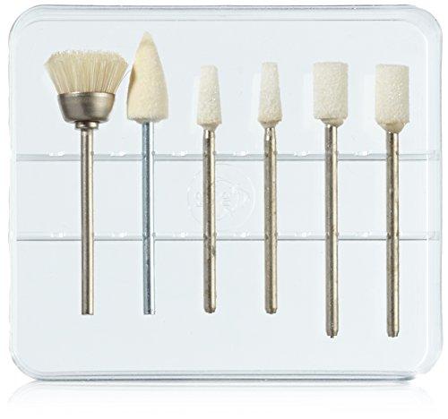 Ersatzaufsätze für Maniküre/Pediküregerät, 6-teiliges Set in Kasette zur Nagelpflege