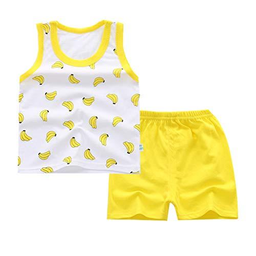 Kleinkind Säuglingsbabykleidung Set Kurzarmshirts + Strap Rock oder kurzes Baumwolloutfit Set 2 Stück 0.5-4 Jahre
