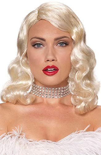 Fancy Me Femme Sexy Années 1950 Longueur Épaule Blonde Déguisement Costume Perruque Costume