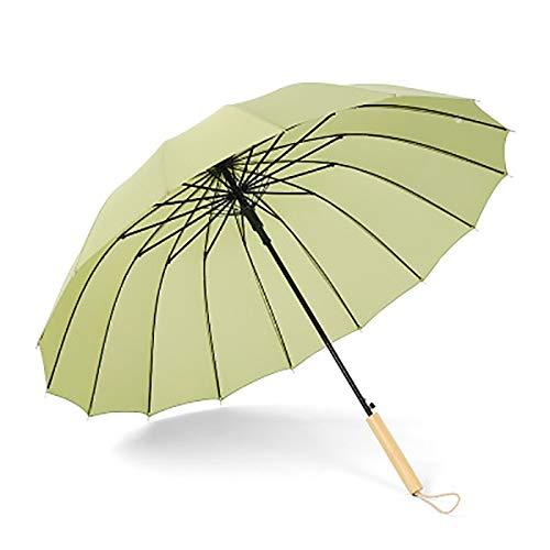 xupu Regenschirm Literarische 16K Lange Griff Regenschirm Retro Regen Dual-Use Regenschirm antike Wind Sen kleine frische gerade Regenschirm