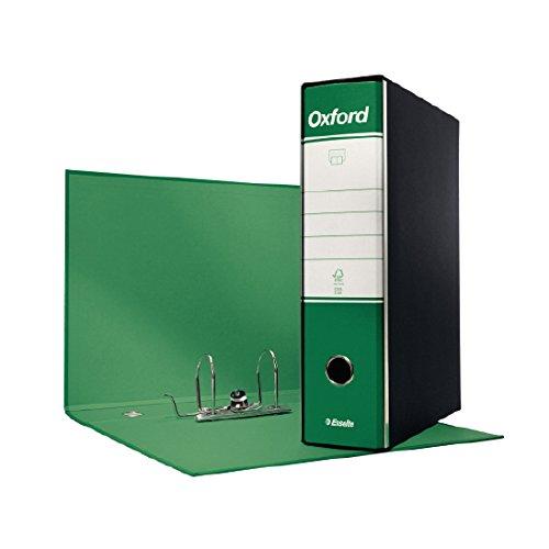 ESSELTE G85 OXFORD Registratore - f.to protocollo dorso 8 cm - Verde - Confezione da 6 pezzi - 390785180