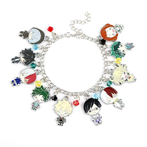 Plaers Fabulous Anime My Hero Academia Multi Character Pendant Charm Bracelets & Bangles for Fans Souvenir Gifts Jewelry(None 0329)