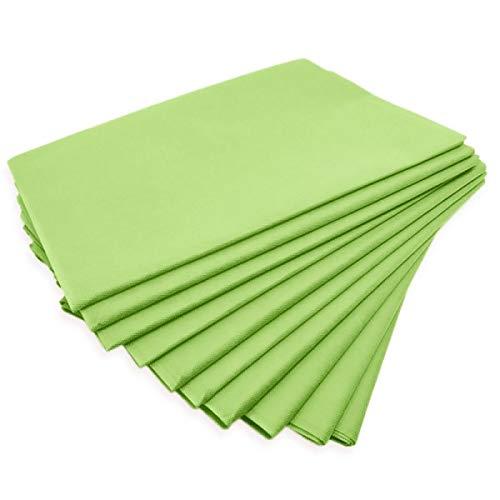 """Physiofit24 ®""""Premium PP70"""" Waschfaserlaken Vlieslaken APFELGRÜN grün (bis zu 400x WASCHBAR) Vliestuch Laken Waschfaserlaken Waschvlies Auflage für die Massageliege waschbar 10 St. 80x210cm"""