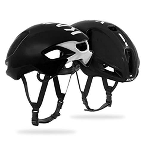 Kask Utopia - Casco de Bicicleta para Adulto, Unisex, Color Negro y Blanco