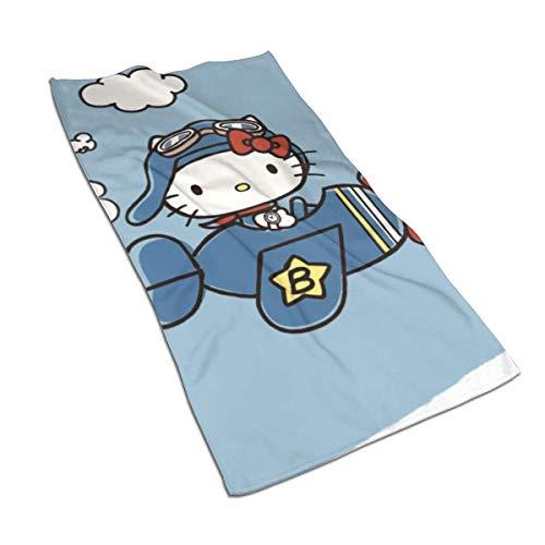 Leo-Shop Toallas de Mano - Toalla Suave y Absorbente para bebé niño Hello-Kitty 27.5 'X 15.7'