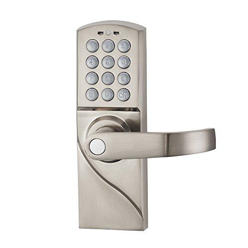 HAIFUAN Cerradura de puerta con teclado digital para mano derecha con llaves de respaldo, entrada...