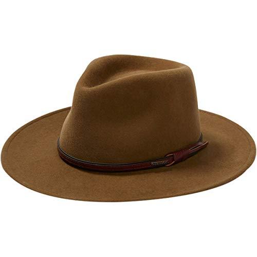 Stetson Men's Bozeman Wool Felt Leather Hatband Outdoor Cowboy Hat - Light Brown
