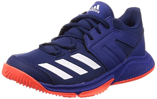 adidas Herren Essence Handballschuhe, Blau (Azuosc/Ftwbla/Rojsol 000), 44 2/3 EU