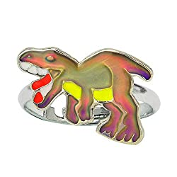 4. Fun Jewels Color Changing Adjustable T-Rex Dinosaur Mood Ring