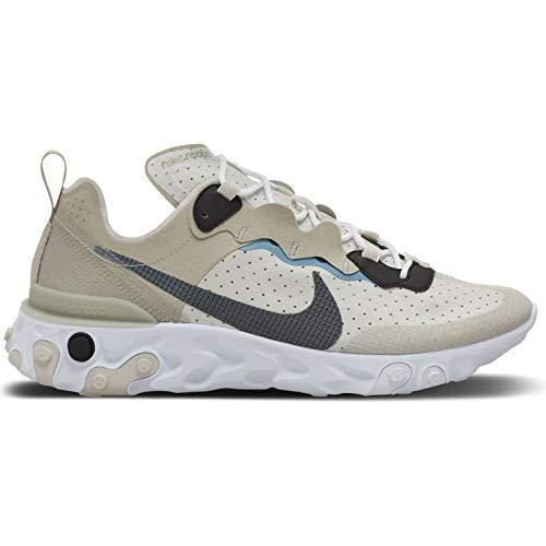 Nike React Element 55 RM, Zapatillas para Correr para Hombre, Stone Cerulean Lt Bone Black, 43 EU