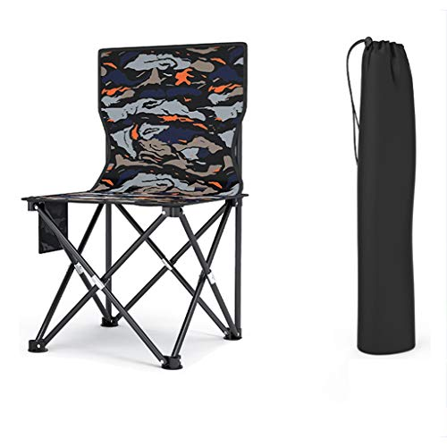 Camping Chairs Portable Folding Camping Chair, with Storage Bag, Load-bearing 250kg/551lbs, Used for Outdoor, Fishing, Beach, Garden, (Size : A)