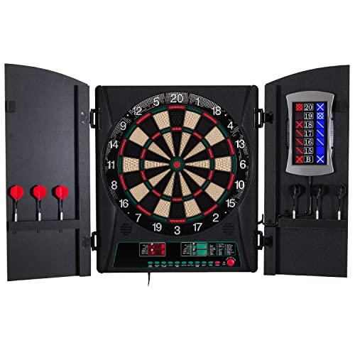 "Bullshooter Cricket Maxx 1.0 Electronic Dartboard Cabinet Set with 13.5"" Target Area,..."