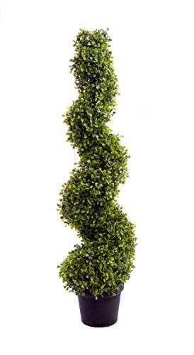Buisson artificiel Best Artificial (TM) - Arbuste en spirale - 90 cm - Protection UV
