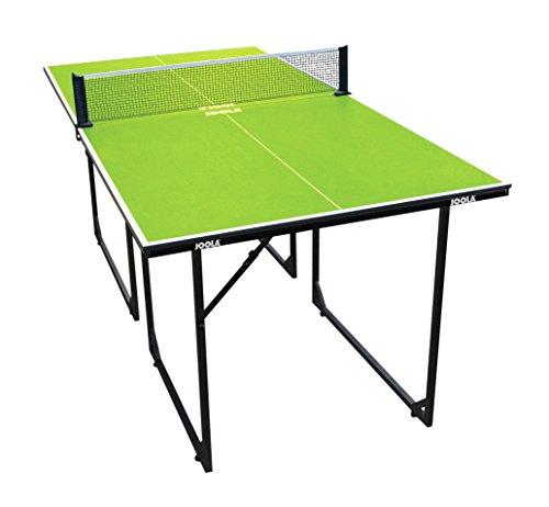 JOOLA - Tavolo da ping pong MIDSIZE – Tavolo da ping pong per interni, con rete da ping pong inclusa, 22 kg, verde, 168 x 84 x 76 cm
